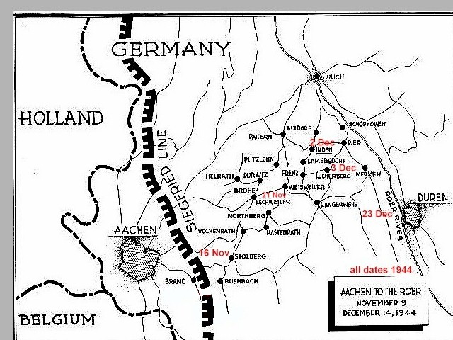 Map - Beyond the Siegfried Line